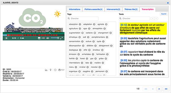indexer, transcription automatique, IsyTaG